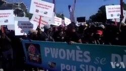 Gonaïves: Plizyè Jèn Komemore Jounen Mondyal Sida a