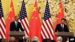 习近平与奥巴马2014年11月12日在北京举行记者会