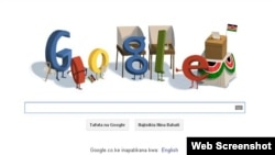 Screenshot of today's Google Doodle for Google Kenya