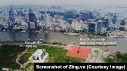 Dự án nhà hát Thủ Thiêm. (Screenshot of Zing.vn)
