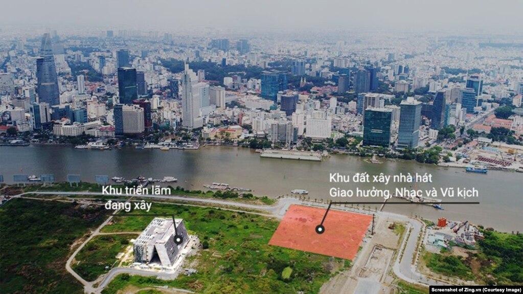 Dự án nhà hát giao hưởng Thủ Thiêm. (Screenshot of Zing.vn)
