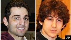 보스턴 마라톤 테러 용의자인 타메를란 차르나예프(왼쪽)와 조하르 차르나예프 형제.