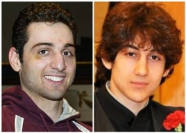 Where Tamerlan (L) saw some success as a boxer, Dzhokhar (R) captained his high school wrestling team.