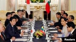 Bà Aung San Suu Kyi đang thăm Nhật Bản để kêu gọi đầu tư và viện trợ.
