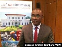 Parfait Kouassi, vice-président de la Chambre de commerce et d'industrie de Côte d'ivoire, le 25 janvier 2018. (VOA/Georges Ibrahim Tounkara)
