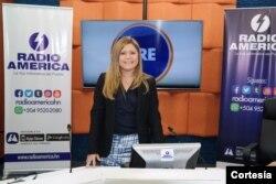 Sucelle Müeller, periodista de Radio América en Honduras