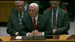 """Pence: """"Es hora de que la ONU hable"""""""