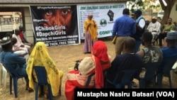 Addu'ar aKAN sako 'yan matan Chibok da Dapchi