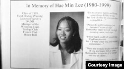 A screenshot of the memorial booklet for the funeral of 19 year-old Hae Min Lee, who was murdered in 1999.
