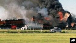 Aseguran que la carga que transportaba el tren no era tóxica ni representa ningún peligro de explosión.