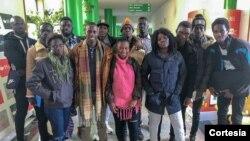 Grupo de estudantes guineenses a estudar em Portugal