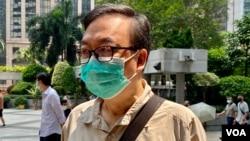 前立法會議員張文光7月23日就去年六四未經批准集結案到區域法院應訊,他表示計劃認罪(美國之音湯惠芸)