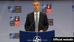 NATO Genel Sekreteri Jens Stoltenberg, NATO Savunma Bakanları Toplantısı öncesinde bir basın toplantısı düzenledi.
