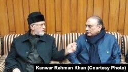 سابق صدر آصف علی زرداری اور ڈاکٹر طاہر القادری کے درمیان ملاقات ۔ 7 دسمبر 2017