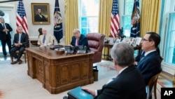 President Donald Trump, Senate Majority Leader Mitch McConnell