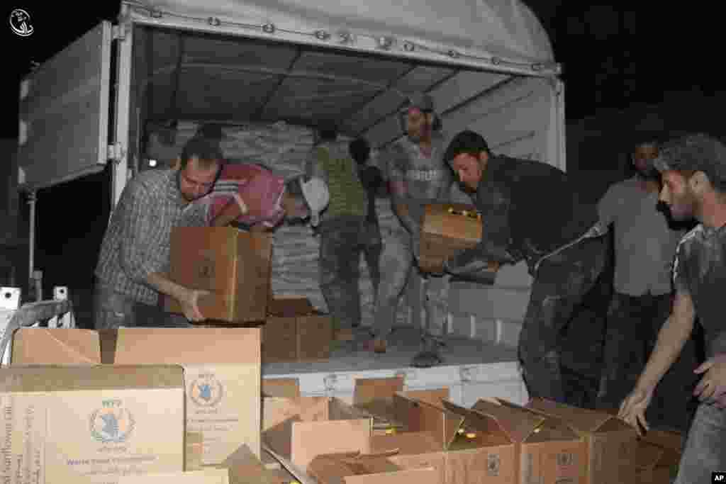 اس شہر کے محصورین کو آخری مرتبہ جون میں امدادی سامان فراہم کیا گیا تھا۔