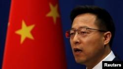 Zhao Lijian, porta-voz do Ministério das Relações Exteriores, fala a jornalistas