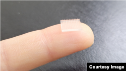 Scientists at Stanford University and University of North Carolina at Chapel Hill used 3D printing technology to create a vaccine patch. (Photo Credit: University of North Carolina at Chapel Hill)