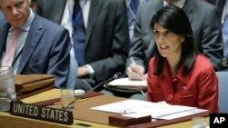 FILE - Duta Besar AS untuk PBB Nikki Haley.