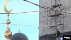 新的莫斯科清真寺正在擴建中,這是莫斯科4座清真寺之一.(視頻截圖)