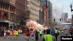 15일 폭탄테러가 발생한 미국 보스턴의 국제 마라톤 대회장.