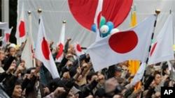 超過兩千人星期六在東京參加反華遊行