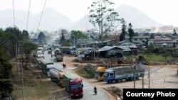 မူဆယ္- လားရိႈးလမ္းမ (Photo- freelance Journalist Zaw Moe Htet)