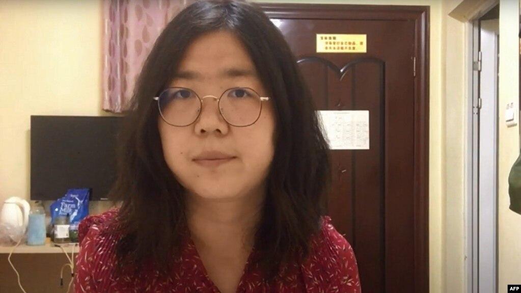 资料照:上海维权人士、公民记者张展