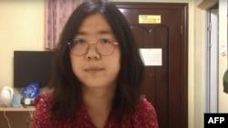 Кадр з одного із відео активістки Чжан Чжань