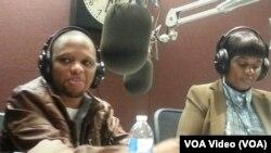 Mwana FA akiwa katika studio za Sauti ya Amerika-VOA, Washington DC