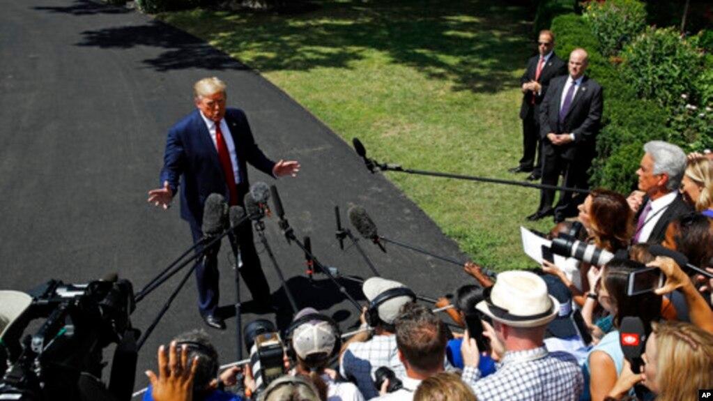 """特朗普:贸易上对付中国 我是""""被拣选者"""""""