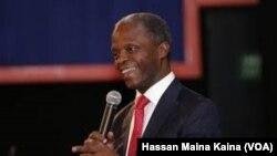 Mataimakin shugaban Najeriya Farfesa Yemi Osinbajo wanda ya jagoranci tawagar kasar zuwa taron kasashen gabar Tekun Guinea
