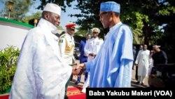 GAMBIA: Tawagar Shugaban Najeriya Buhari da Sirleaf