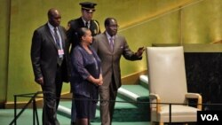 UMongameli Robert Mugabe engakakhulumi emhlanganweni weUnited Nations General Assembly ngoLwesine.