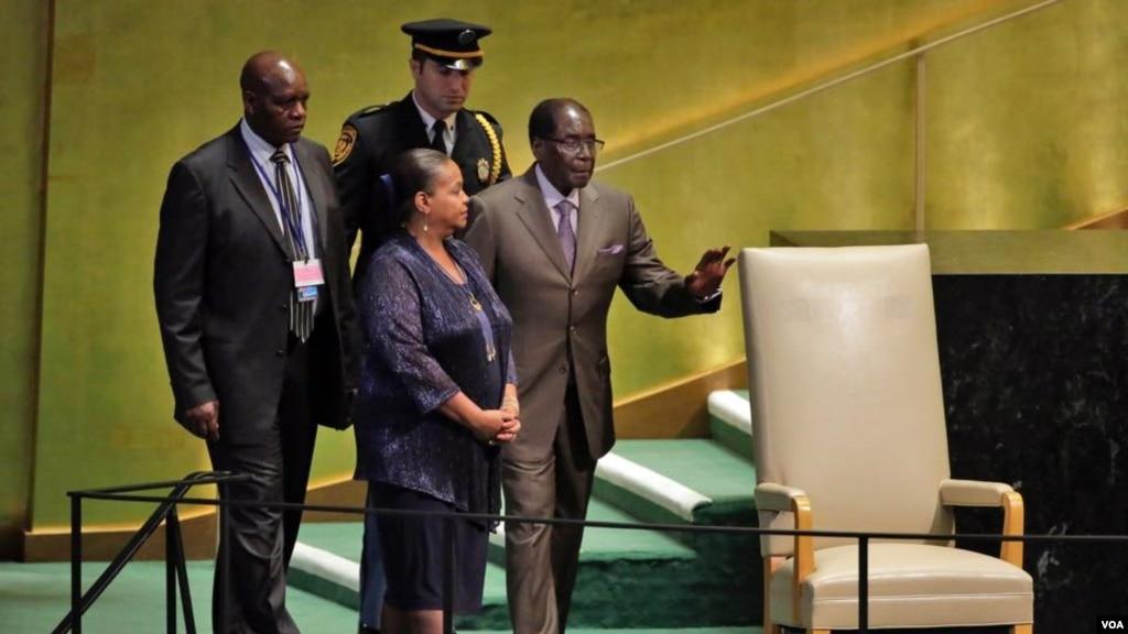 Mugabe Calls on Trump to Trumpet Peace, Dislikes Return of 'Biblical Giant Goliath'