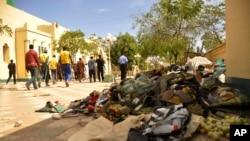 Photo de bombardement à la mosquée de Kano, 29 novembre 2014.