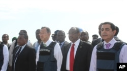Sekreterê Giştî yê NY Ban Ki-moon Serdana Somalê Dike