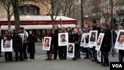 اعتراض به نقض حقوق بشر در ایران در آستانه سفر حسن روحانی به پاریس