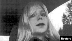 U.S. Army Private First Class Bradley Manning, the U.S. soldier convicted of giving classified state documents to WikiLeaks, is pictured dressed as a woman in this 2010 photograph obtained on August 14, 2013.