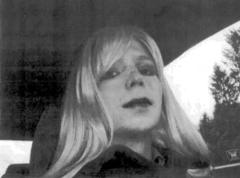 U.S. Army Private First Class Bradley Manning is pictured dressed as a woman in this 2010 photograph obtained on Aug. 14, 2013.