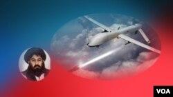 د ملا اختر منصور په موټر ډرون حمله د بلوچستان نوشکي ضلعې په احمدوال کلې کې کړې ده