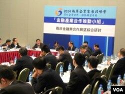 两岸起企业家峰会举行分组讨论会(美国之音许波拍摄)