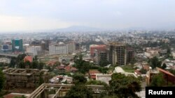 A general view shows a section of the skyline in Ethiopia's capital Addis Ababa, Sept. 16, 2013.
