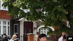 정치범 수용소 수감자들의 생사 여부 확인을 요구하는 탈북자 김혜숙씨(자료사진)