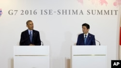 باراک اوباما رئیس جمهوری آمریکا برای شرکت در نشست سران گروه ۷ به ژاپن رفته است