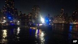 Imagem fornecida pela Polícia de Nova Iorque do local do acidente