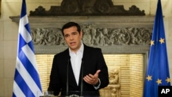 希臘總理齊普拉斯6月12日對全國發表電視實況轉播的講話