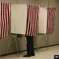 宾州还有这种用纸张的投票站