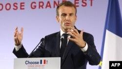 Le président français Emmanuel Macron à Pont-a-Mousson, France, 5 novembre 2018.