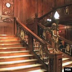 Replika stepenica unutar Titanika je dio izložbe u Las Vegasu